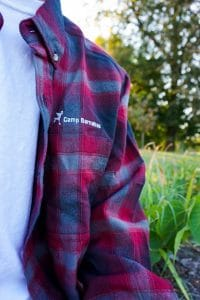 red Camp Barnabas glamping flannel
